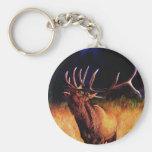 Bull Elk Call Of The Wild Key Chain