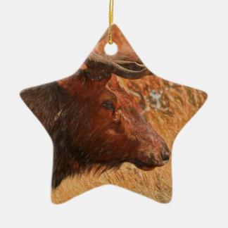 Bull Elk Ceramic Ornament