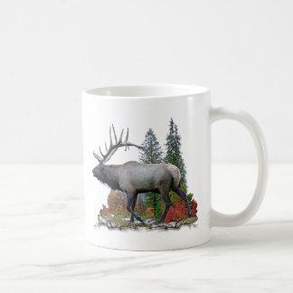 Bull Elk Classic White Coffee Mug