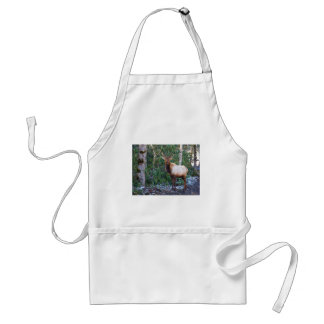 Bull Elk in Rhododendrons Adult Apron