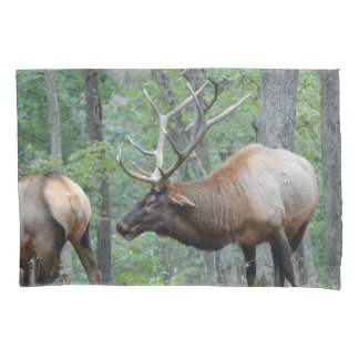 Bull Elk In Rut Smiling Pillow Case