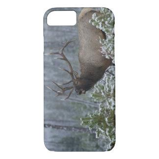 Bull Elk in snow calling, bugling, Yellowstone iPhone 7 Case