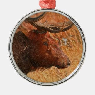 Bull Elk Metal Ornament