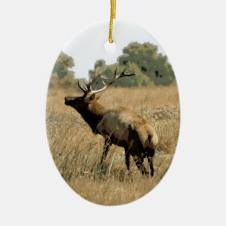 Bull Elk Ornaments