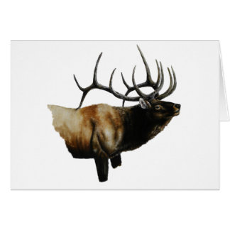 Bull Elk Painting on customizable products Card