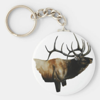 Bull Elk Painting on customizable products Keychain
