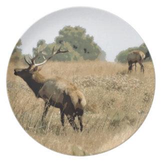 Bull Elk Party Plates