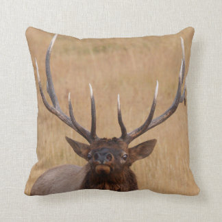 bull elk throw pillows
