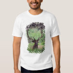 Bull Elk Resting In Alpine Meadow With Antlers T-Shirt