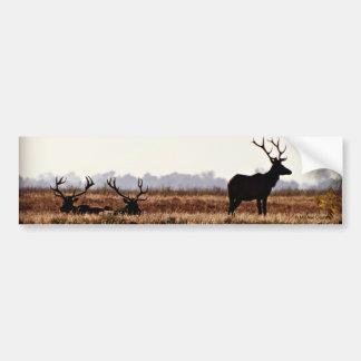 Bull Elk Silhouette Car Bumper Sticker