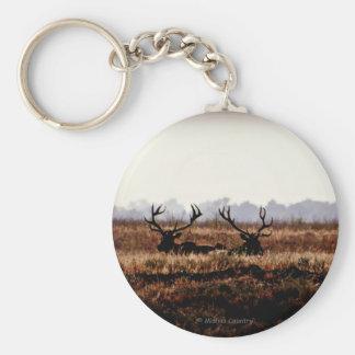 Bull Elk Silhouette Keychain