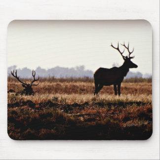 Bull Elk Silhouette Mouse Pad