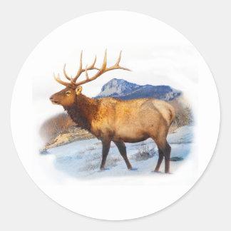 bull elk t idea.pdf classic round sticker