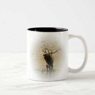 Bull Elk Two-Tone Coffee Mug