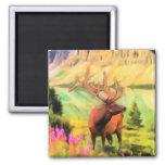 Bull Elk Wildlife Magnet