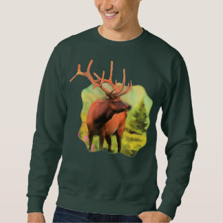 Bull Elk Wildlife Sweatshirt