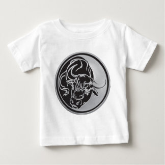 Bull Emblem With Silver Background Baby T-Shirt