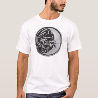 Bull Emblem With Silver Background T-Shirt