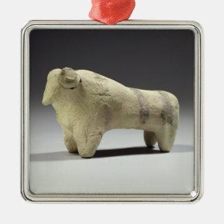 Bull en el estilo de Ubaid, c.4000-3500 A.C. Adorno Navideño Cuadrado De Metal