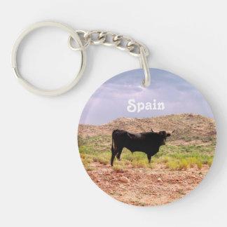 Bull en España Llavero Redondo Acrílico A Una Cara