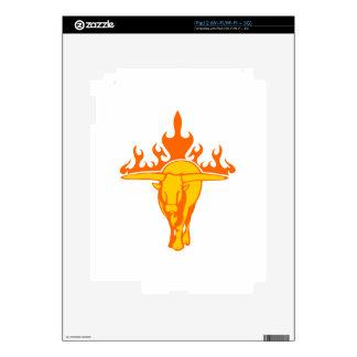 Bull en llamas calcomanía para iPad 2
