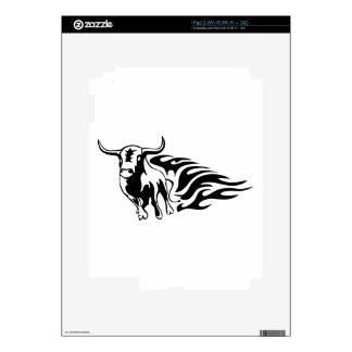 Bull en llamas iPad 2 calcomanía