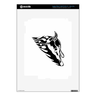 Bull en llamas iPad 3 skin