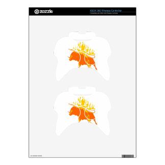Bull en llamas mando xbox 360 skin