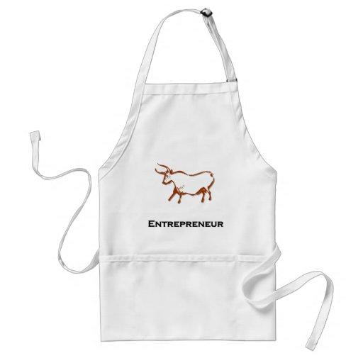 Bull Entrepreneur Brown Adult Apron