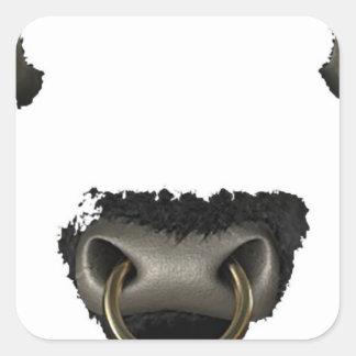 bull face full square sticker