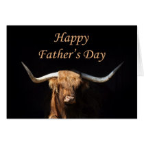 Bull Father's Day card