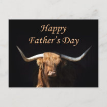 Bull Father's Day postcard