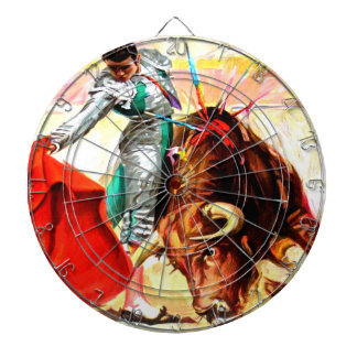 Bull Fight Bullfight Vintage Mexico Poster Game Dartboard With Darts