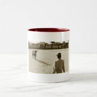 Bull Fight Two-Tone Coffee Mug
