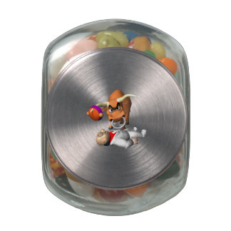 Bull Fighter 2 Glass Candy Jars