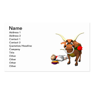Bull Fighter 3 Business Cards