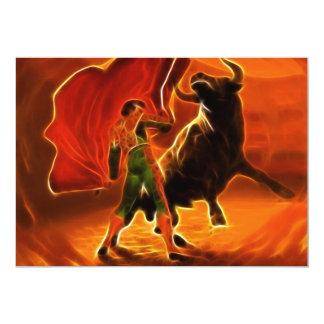 Bull Fighter And El Toro Card