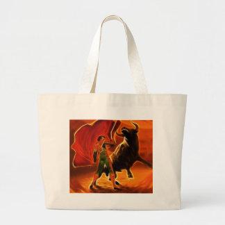 Bull Fighter And El Toro Jumbo Tote Bag