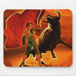 Bull Fighter And El Toro Mouse Pad