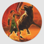 Bull Fighter And El Toro Stickers