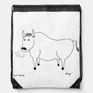 Bull Folk Art Backpack