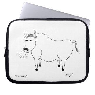 Bull Folk Art Laptop Sleeve