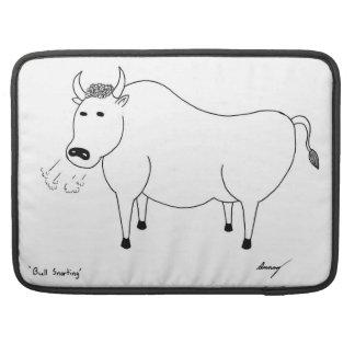 Bull Folk Art Macbook Pro Sleeve