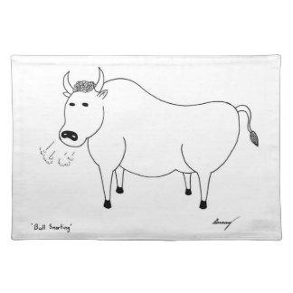 Bull Folk Art Placemat Cloth Place Mat