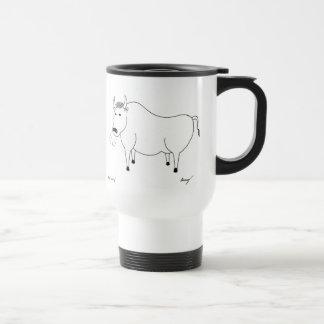 Bull Folk Art Travel Mug