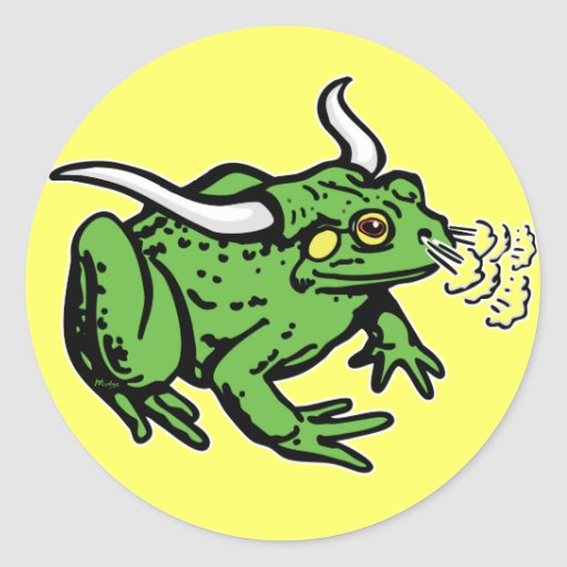 Bull Frog by Mudge Studios Stickers