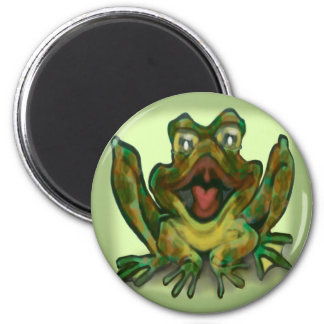 Bull Frog 2 Inch Round Magnet