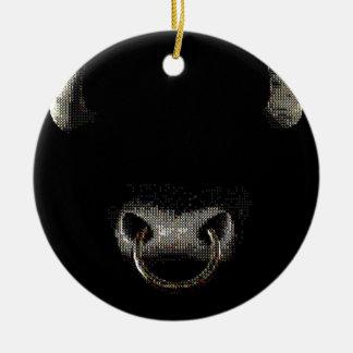 Bull hace frente (el punto) ornamentos para reyes magos