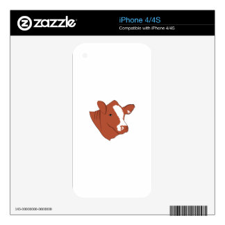 Bull Head iPhone 4 Decals