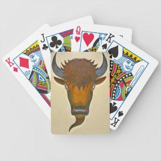 Bull Head Mural 1936 Poker Cards
